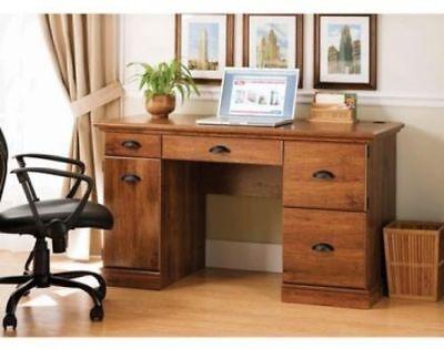 Computer Workstation Desk Modern Executive Wood Furniture Office Home NEW