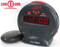 Sonic Bomb JR Extra Loud Amplified Alarm Clock Deep Sleepers Bed Shaker SBJ525SS