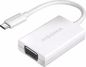 Insignia NS-PU369CV-WH-C 0.15m (0.5 ft.) USB 3.1 Type C to VGA Adapter(Open Box)