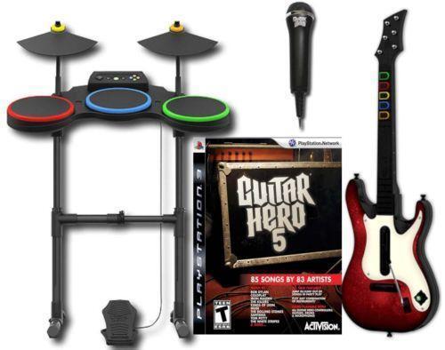 guitar hero band set ps3 ebay. Black Bedroom Furniture Sets. Home Design Ideas