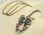 Long Owl Pendant Necklace