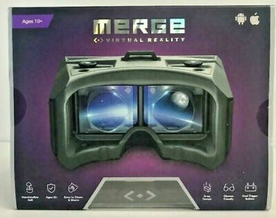 Merge VRG-01MG Virtual Reality Headset Goggles -  Android or IOS, Grey, NEW!