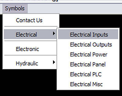 Custom Electrical Symbol Library, Menu for Autocad