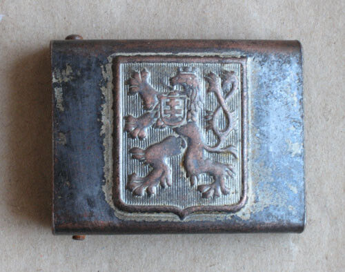 OLD CZECHOSLOVAK  MARKED ARMY BELT BUCKLE / ca. 1925