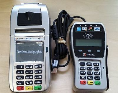 First Data Fd130 Duo Terminal And Fd-35 Emv Pin Pad With 1yr Warranty - New