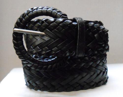 womens braided leather belt ebay
