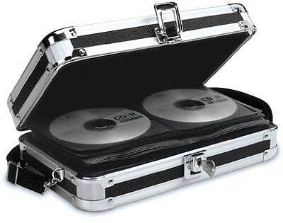 Vaultz CD DVD Wallet Case Holder Key lock Box Storage Portable, 64 CD Capacity