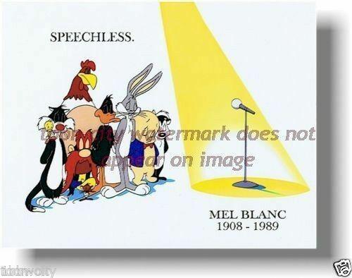 8 x 10 Speechless Mel Blanc Bugs Bunny Daffy Duck tribute Warner Bros Brand NEW