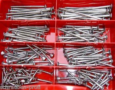 Sortimentkasten 220 Teile Torx Edelstahl Schrauben 3,0 x 20 bis 4,5 x...