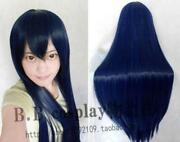 Blue Black Cosplay Wig