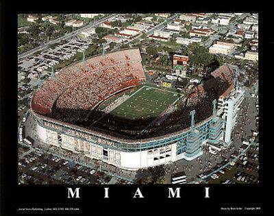 Miami Hurricanes ORANGE BOWL CLASSIC Aerial View Premium Poster Print Miami Orange Bowl