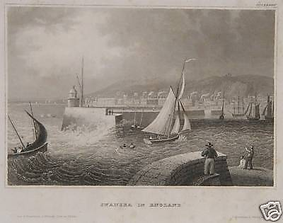 Swansea Hafen Leuchtturm Segelschiff Matrose England