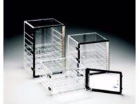 "Nalgene Clear Acryllic Vertical Adjustsble 3shelf Dessicator Cabinet Dry Box 18"""