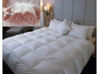 2 Brand New LUXURY HOTEL QUALITY GOOSE / DUCK FEATHER & DOWN DUVET QUILT 13.5 TOG