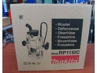 "Makita RP1110C 1/4"" (8mm) Plunge Router 240 Volt"