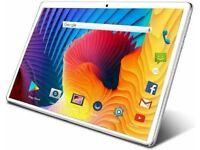 10.1 HD 8+128 G Silver Android 9 _Dual SIM/CAM 4 G Unlocked 10C+Mini BT Speaker (NEW)