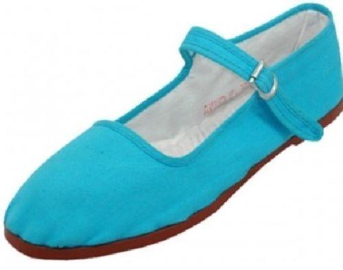 Womens Cotton Mary Jane Shoes Ballerina Ballet Flats Shoes 15 Colors