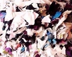 Approx.10kg of Shredded Fabric Stuffing for Crafts,Toys,Collages,Cushions Etc.