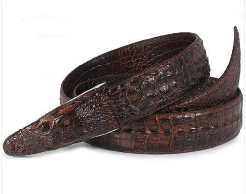 Mens Crocodile Leather Belt Ebay