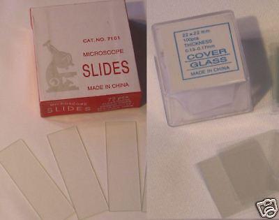 500 Blank Microscope Slides 500 Cover Glass Slips 2222