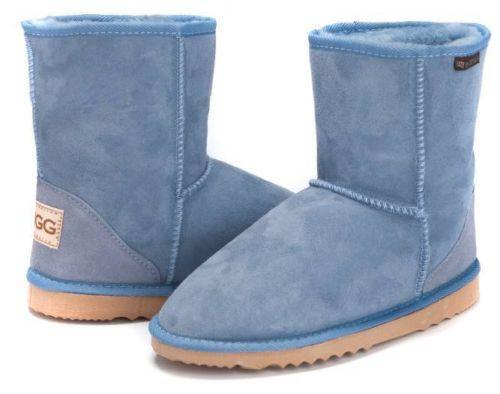 UGG Shaye Boots are a classic rain boot. They have a glossy outer, they're waterproof, and they even have the classic UGG sheepskin insole. UGG Shaye Boots can be worn just like any other rain boots — with jeans, leggings, dresses, shorts.