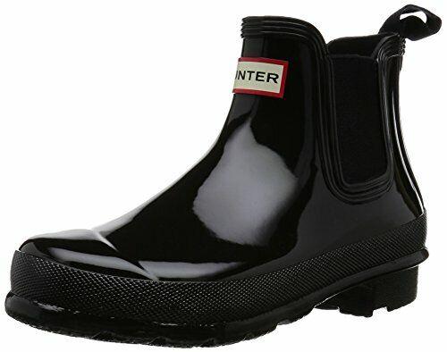 Hunter Original Gloss Chelsea Ladies Black Boots 9