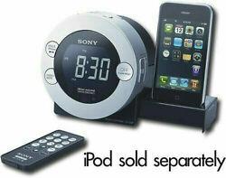 Sony Dream Machine Dual Alarm Clock Radio ICF-C7iP w/30 Pin iPod/iPhone Dock