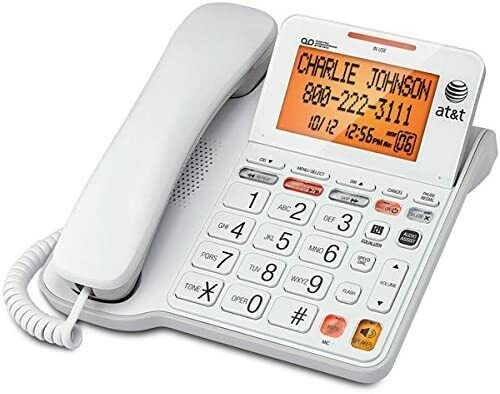 AT&T CL4940 Corded Phone Answering Machine Backlit Display Extra Large Buttons