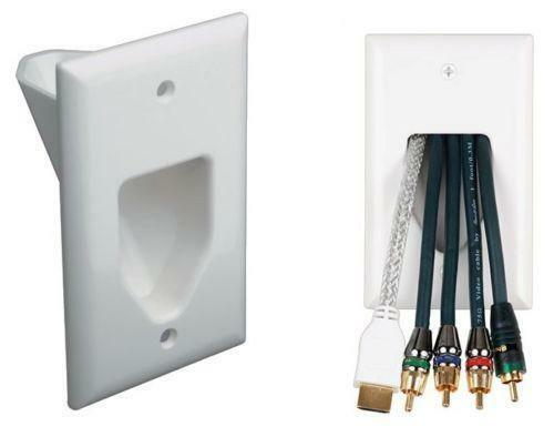 cable wall plate ebay. Black Bedroom Furniture Sets. Home Design Ideas