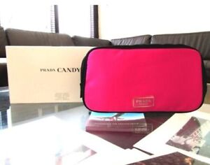 Brand New Prada Candy Pink Cosmetic Make Up Bag