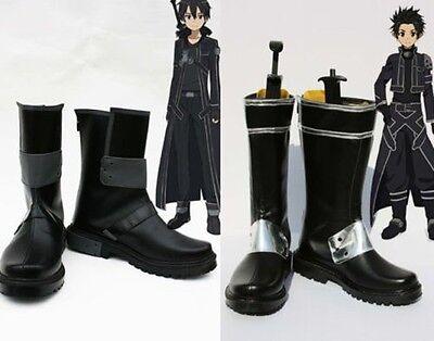Sword Art Online Kazuto Kirigaya kirito Cosplay Shoes Schuhe Kostüm chaussure (Sword Art Online Kazuto Kirigaya Cosplay Kostüm)