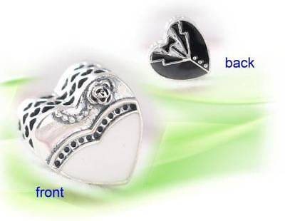 AUTHENTIC PANDORA Silver Charm bead Our Special Day Wedding 791840  😊free ship