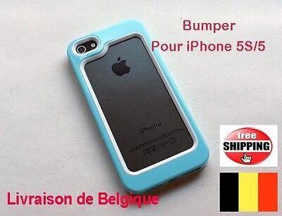 Bleu Bumper  HOUSSE COQUE ETUI  SILICONE iPhone 5S/5 (choix multi couleur) X1