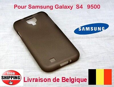 Noir Pochette Coques Silicone  Pour Samsung Galaxy S4  S IV 9500   TOP QUALITÉ