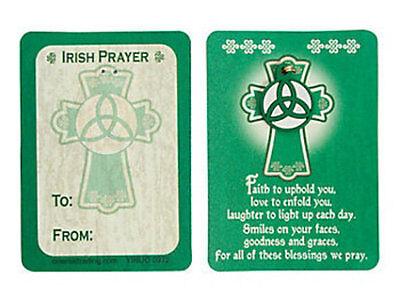 12 Shamrock Green Irish KELTIC Blessing Wallet Cards charm Pins St Patrick's Day