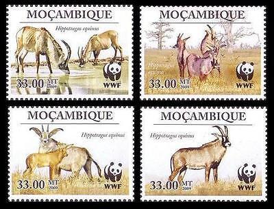 Mozambique WWF Roan Antelope 4v SC#1930 MI#3658-61