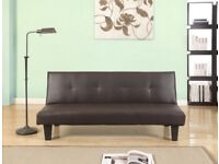BIRLEA FRANKLIN SOFA BED SETTEE BROWN FAUX LEATHER BRAND NEW BOXED