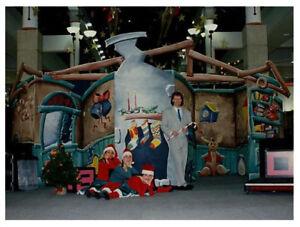 Santa's Workshop - festive wood stage set