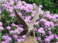 Cast Iron Golden Eagle Statue
