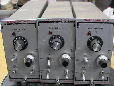 Set Of 3 Unholtz-dickie 122p Charge Amplifier S