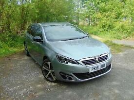 2016 Peugeot 308 SW 1.6 BlueHDi 120 GT Line 5 door Diesel Estate