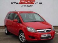 2014 Vauxhall Zafira 1.6i [115] Design 5 door Petrol People Carrier