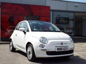 2011 Fiat 500 1.2 Lounge 3 door [Start Stop] Petrol Hatchback