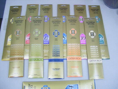 Gonesh Premium Incense Sticks 20 Pack: Choose Scent BUY 4 GET 1 FREE (5 IN CART)