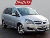 2012 Vauxhall Zafira 1.8i Design 5 door Petrol People Carrier