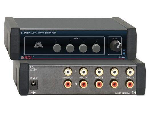 Rdl Ez-sx4 4x1 Stereo Audio Input Switcher