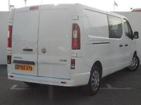 2015 Vauxhall Vivaro 2900 1.6CDTI 115PS Sportive H1 DoubleCab Diesel Van