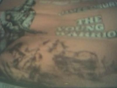 film poster 40x 30 inches the young warriors - james drury - original j1f