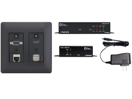 Aurora Multimedia Dxw-2eu-s2-b-4k One Room Hdmi Wp Extender Kit W Ps/black