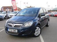 2012 Vauxhall Zafira 1.6i [115] Exclusiv 5 door Petrol People Carrier